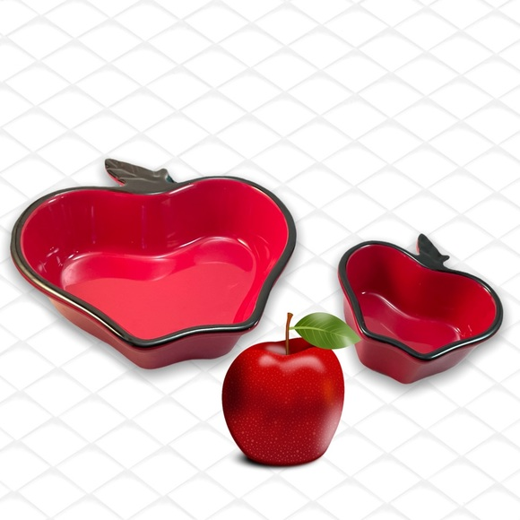 ⤵️Ceramic Red Apple shaped dish